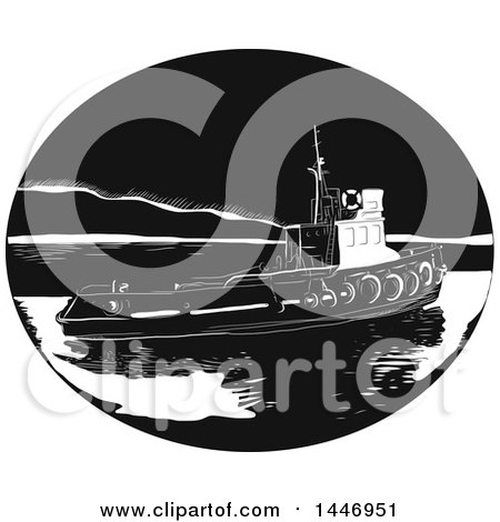 Royalty-Free (RF) Tugboat Clipart, Illustrations, Vector Graphics #1