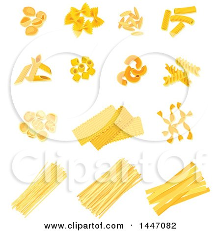 Clipart of Italian Pasta - Royalty Free Vector Illustration by Vector Tradition SM