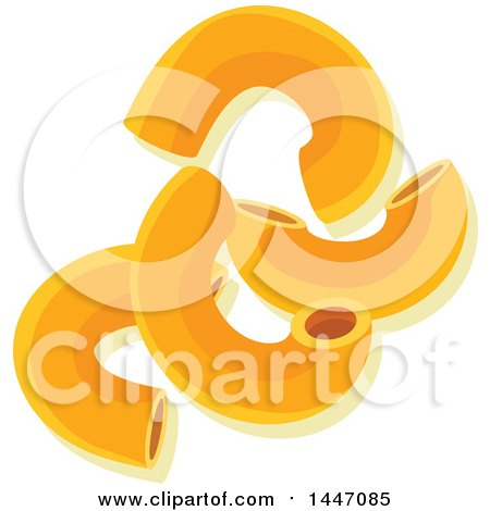 Clipart of Macaroni Italian Pasta - Royalty Free Vector ...
