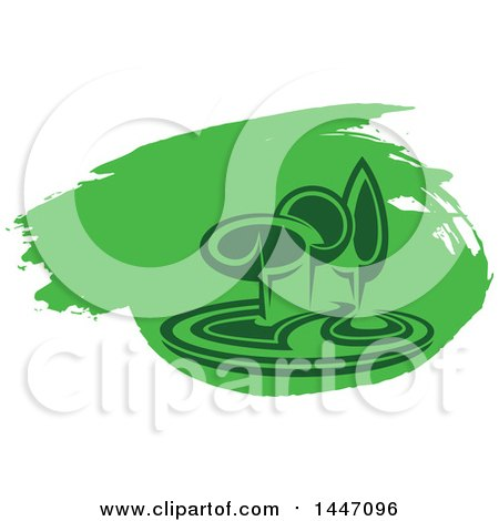 Clipart of a Park with Trees and Green Paint - Royalty Free Vector Illustration by Vector Tradition SM