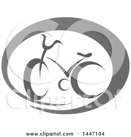 Clipart of a Grayscale Bicycle Icon - Royalty Free Vector Illustration by Vector Tradition SM