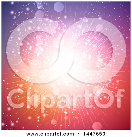 Clipart of a Background of a Burst of Light in Purple Red and Pink - Royalty Free Vector Illustration by KJ Pargeter