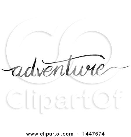 Clipart Of A Grayscale Handwritten Motivational Word