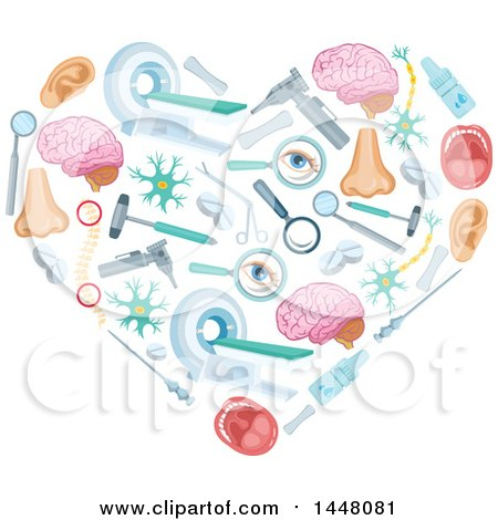 Clipart of a Heart Formed of Medical Icons - Royalty Free Vector Illustration by Vector Tradition SM