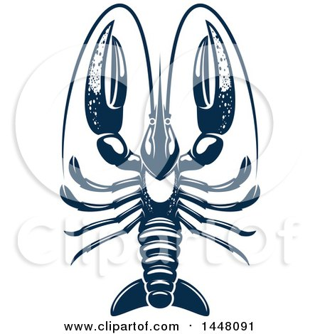 Clipart of a Navy Blue Lobster - Royalty Free Vector Illustration by Vector Tradition SM