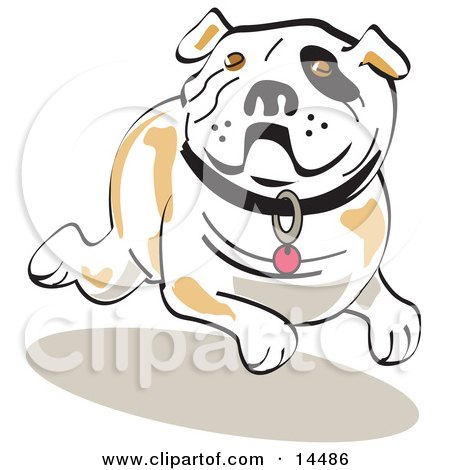Running Bulldog Clipart Illustration by Andy Nortnik