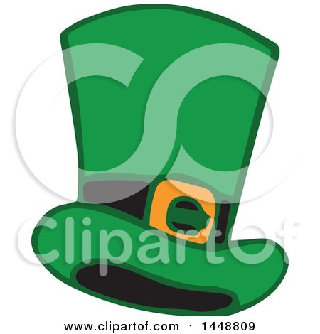 Clipart of a St Patricks Day Leprechaun Hat - Royalty Free Vector Illustration by Cherie Reve
