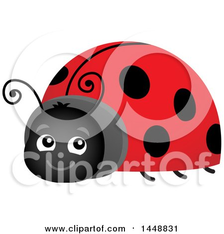 Clipart of a Happy Ladybug - Royalty Free Vector Illustration by visekart