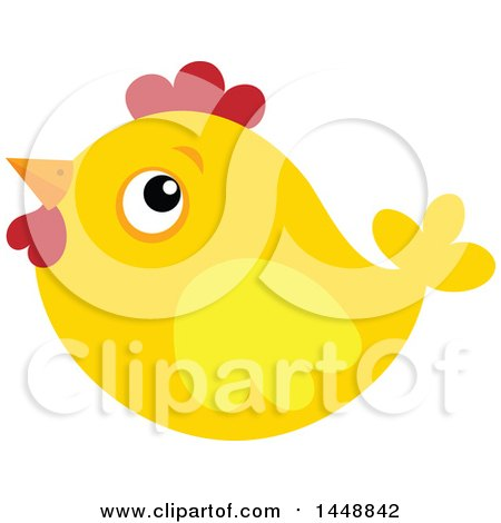Clipart of a Yellow Chick - Royalty Free Vector Illustration by visekart