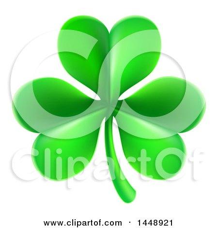 Clipart of a St Patricks Day Shamrock Clover Leaf - Royalty Free Vector Illustration by AtStockIllustration