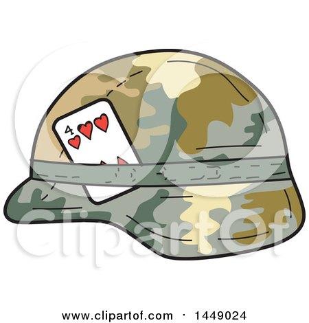 clipart graphic of a cartoon us army kevlar combat helmet with a rh clipartof com Cartoon Banner Cartoon Army Boots