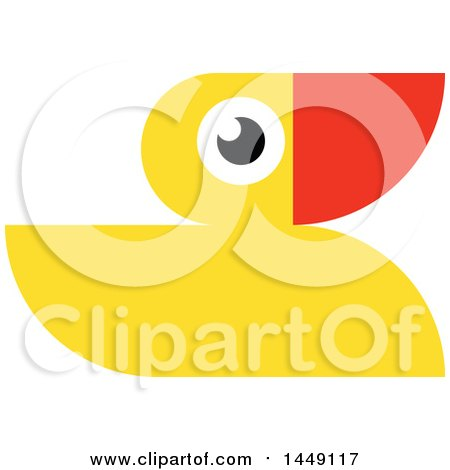 Clipart Graphic of a Yellow Rubber Duck - Royalty Free Vector Illustration by elena