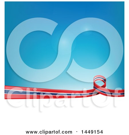 Clipart Graphic of a Thai Ribbon Flag Border Between White and Blue - Royalty Free Vector Illustration by Domenico Condello