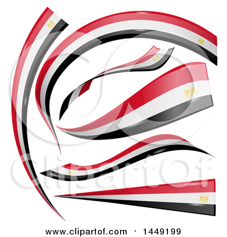Clipart Graphic of Egyptian Ribbon Flag Design Elements - Royalty Free Vector Illustration by Domenico Condello