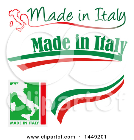 Clipart Graphic of Italian Made in Italy Design Elements - Royalty Free Vector Illustration by Domenico Condello