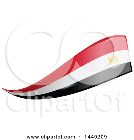 Clipart Graphic of an Egyptian Ribbon Flag Design Element - Royalty Free Vector Illustration by Domenico Condello