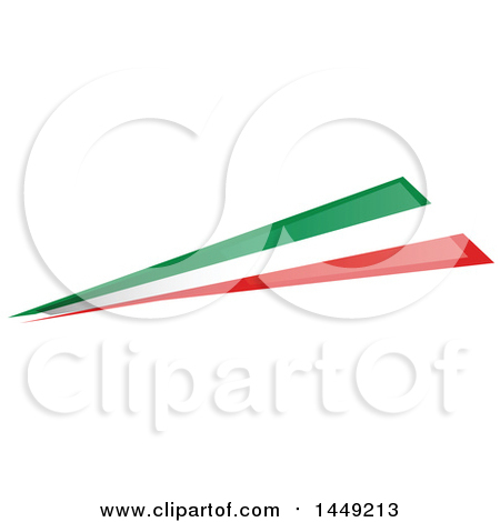 Clipart Graphic of an Italian Ribbon Flag Design Element - Royalty Free Vector Illustration by Domenico Condello