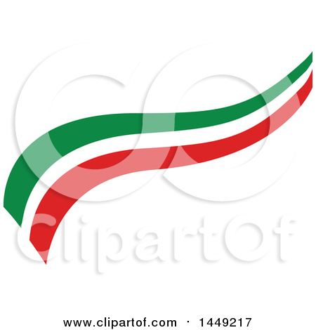 Clipart Graphic of an Italian Ribbon Flag Design Element - Royalty Free Vector Illustration by Domenico Condello
