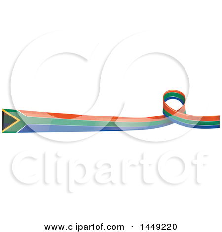 Clipart Graphic of a South African Ribbon Flag Border Design Element - Royalty Free Vector Illustration by Domenico Condello