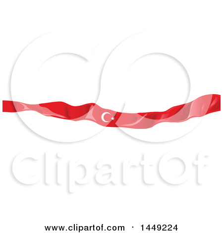 Clipart Graphic of a Turkish Ribbon Flag Design Element - Royalty Free Vector Illustration by Domenico Condello