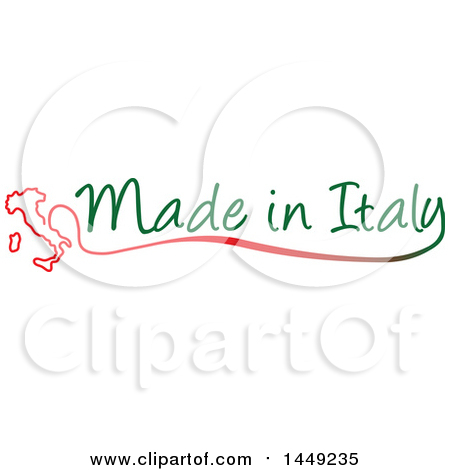 Clipart Graphic of an Italian Map and Made in Italy Design Element - Royalty Free Vector Illustration by Domenico Condello