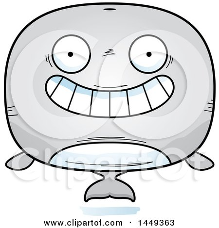 Clipart Graphic of a Cartoon Grinning Whale Character Mascot - Royalty Free Vector Illustration by Cory Thoman