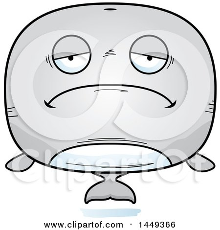 Clipart Graphic of a Cartoon Sad Whale Character Mascot - Royalty Free Vector Illustration by Cory Thoman