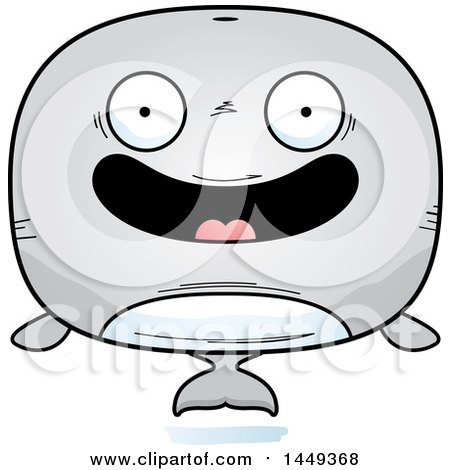 Clipart Graphic of a Cartoon Happy Whale Character Mascot - Royalty Free Vector Illustration by Cory Thoman