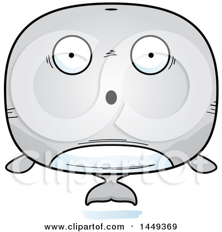 Clipart Graphic of a Cartoon Surprised Whale Character Mascot - Royalty Free Vector Illustration by Cory Thoman