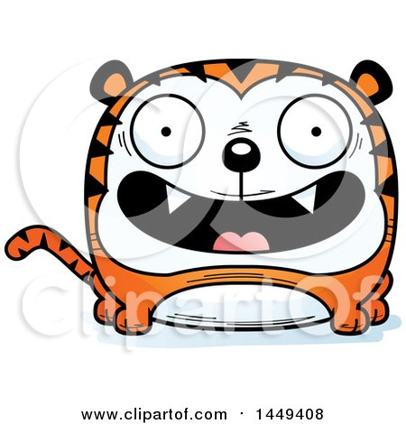 Clipart Graphic of a Cartoon Happy Tiger Character Mascot - Royalty Free Vector Illustration by Cory Thoman