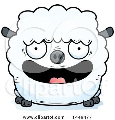 Clipart Graphic of a Cartoon Happy Sheep Character Mascot - Royalty Free Vector Illustration by Cory Thoman