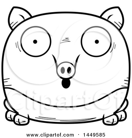 tapir coloring page - cartoon of a black and white loving chubby tapir with