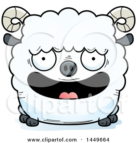 Clipart Graphic of a Cartoon Happy Ram Sheep Character Mascot - Royalty Free Vector Illustration by Cory Thoman