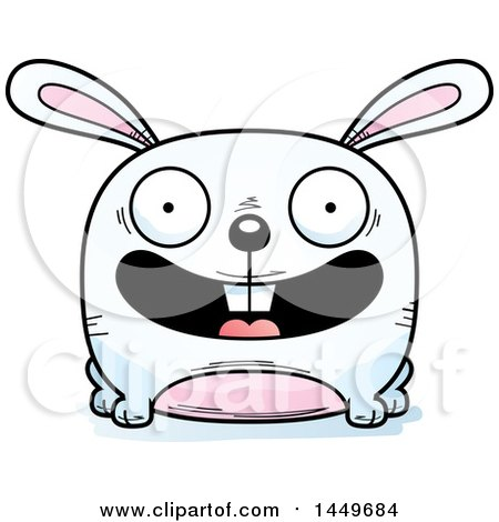 Clipart Graphic of a Cartoon Happy Bunny Rabbit Hare Character Mascot - Royalty Free Vector Illustration by Cory Thoman
