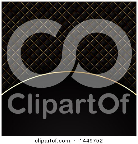 Clipart Graphic of a Black and Gold Background with Text Space - Royalty Free Vector Illustration by KJ Pargeter