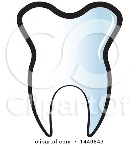 Clipart Graphic of a Gradient Tooth - Royalty Free Vector Illustration by Lal Perera