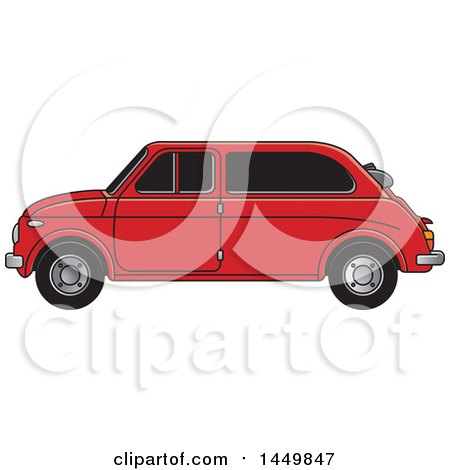 Clipart Graphic of a Vintage Red Car - Royalty Free Vector Illustration by Lal Perera