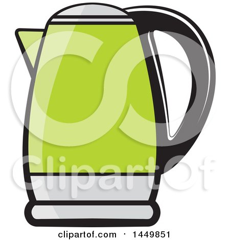 Clipart Graphic of a Green Kettle - Royalty Free Vector Illustration by Lal Perera