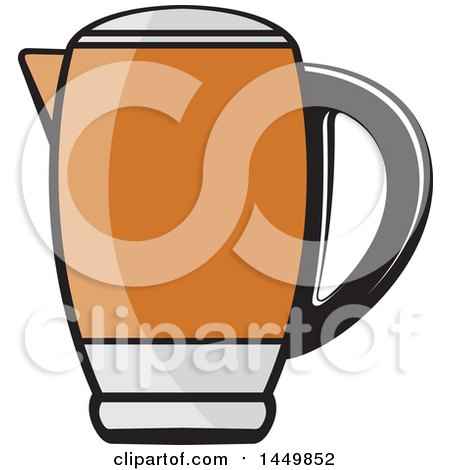 Clipart Graphic of an Orange Kettle - Royalty Free Vector Illustration by Lal Perera