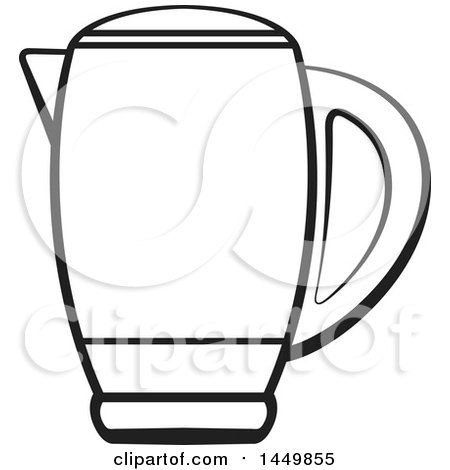 Clipart Graphic of a Black and White Kettle - Royalty Free Vector Illustration by Lal Perera