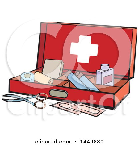 Clipart Graphic of a First Aid Kit - Royalty Free Vector Illustration by Lal Perera