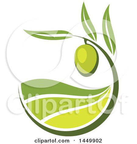 Clipart Graphic of a Green Olive Design - Royalty Free Vector Illustration by Vector Tradition SM