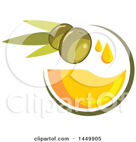 Clipart Graphic of a Green Olive Oil Design - Royalty Free Vector Illustration by Vector Tradition SM