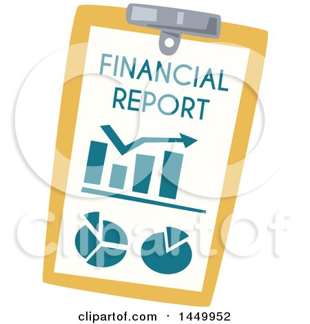Clipart Graphic of a Financial Report on a Clipboard - Royalty Free Vector Illustration by Vector Tradition SM