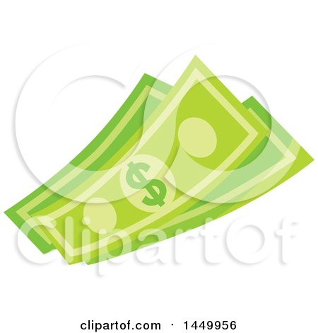 Clipart Graphic of Green Dollar Bills, Cash Money - Royalty Free Vector Illustration by Vector Tradition SM