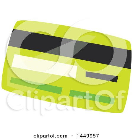 Clipart Graphic of a Green Credit or Debit Card - Royalty Free Vector Illustration by Vector Tradition SM
