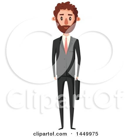 Clipart Graphic of a Tall Slender White Business Man - Royalty Free Vector Illustration by Vector Tradition SM