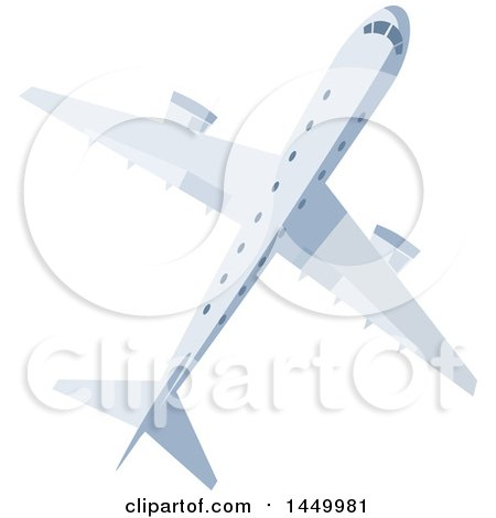 Clipart Graphic of a Flying Airplane - Royalty Free Vector Illustration by Vector Tradition SM