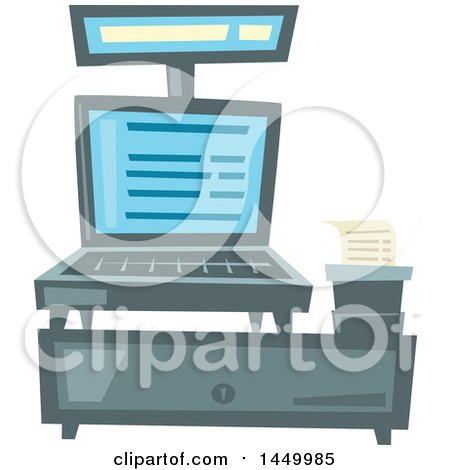 Clipart Graphic of a Merchant Store Cash Register - Royalty Free Vector Illustration by Vector Tradition SM