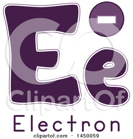 Clipart Graphic of a Lower and Upper Case Letter E with an Electron - Royalty Free Vector Illustration by BNP Design Studio